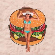 Круглое пляжное полотенце Гамбургер