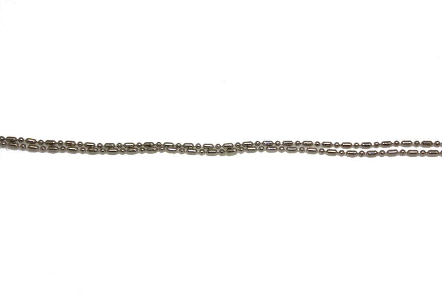 Цепочка бусина-сосиска мелкая