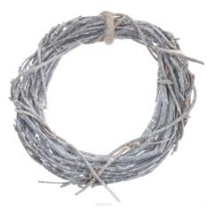 Серый декоративный венок-заготовка Dongjiang Art