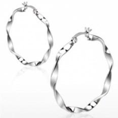 Серьги-кольца из стали Spikes