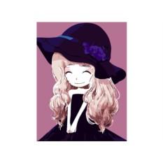 Картина по номерам «Девочка-зима»