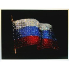 Картина Сваровски Флаг России, 1915 кристаллов, 40х30 см