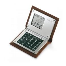 Калькулятор,  часы-будильник, календарь, кожа