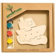 Развивающая игрушка Кораблик на волнах с красками