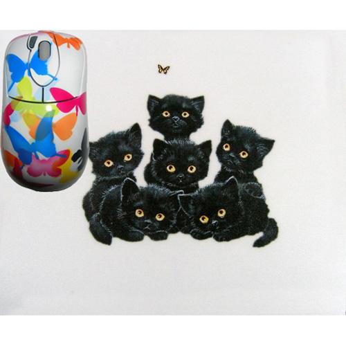 Мышь расписная «Котята» + коврик