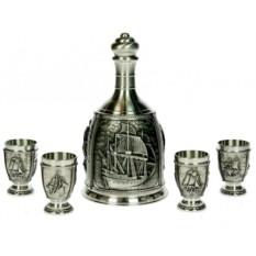 Подарочный набор для водки на 4 персоны Флот