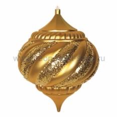 Елочная игрушка Лампа золотового цвета