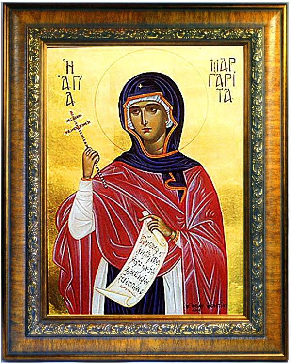 Маргарита Антиохийская  Святая великомученица. Икона, холст