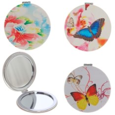 Круглое карманное зеркало Бабочка
