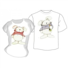 Парные футболки Зайцы