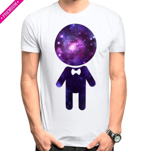 Мужская парная футболка Stedman Парень космос