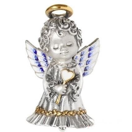 Серебряный колокольчик «Ангел»