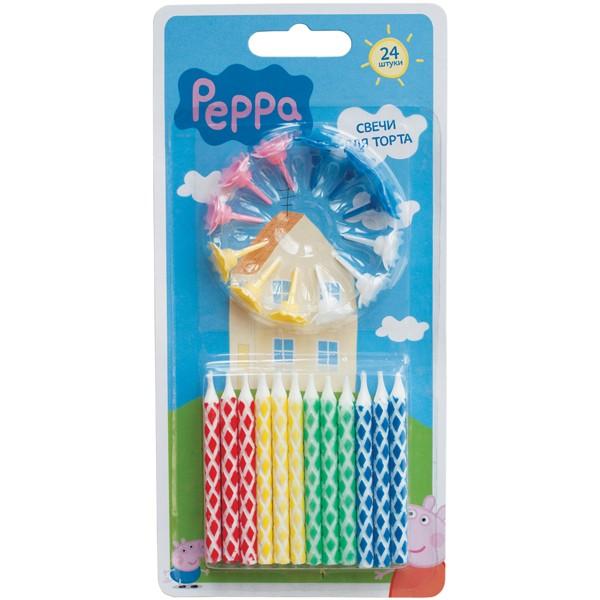 Набор свечей с держателем, Peppa Pig