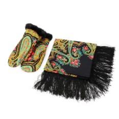 Подарочный набор Павлопосадский платок и рукавицы