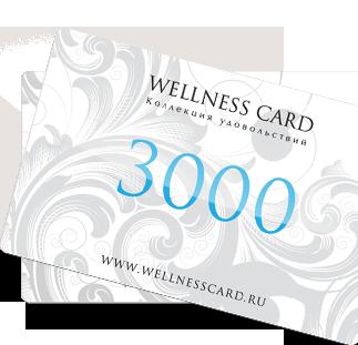 Подарочный сертификат WELLNESS CARD 3000