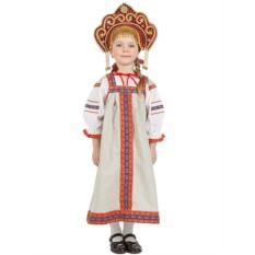 Русский народный льняной костюм для детей Забава