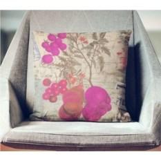 Декоративная наволочка Винтаж: Лиловые цветы