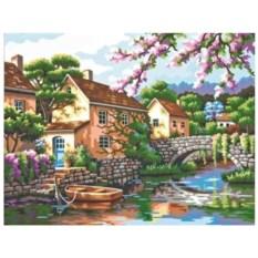 Картина-раскраска по номерам на холсте Летом
