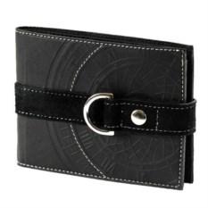 Черный кошелек ручной работы из натуральной кожи