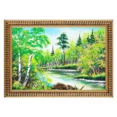 Картина из каменной крошки Летний пейзаж (20х30 см)