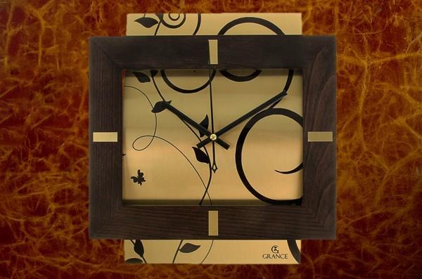 Настенные часы Grance (венге, золотой)
