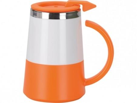 Оранжевая кружка с термоизоляцией