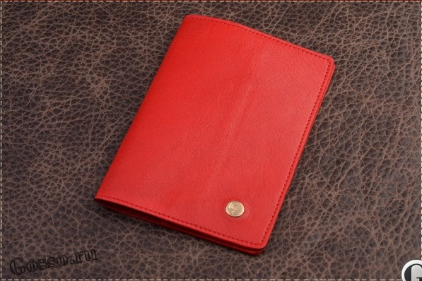Обложка на паспорт/автодокументы «Красная Наппа»