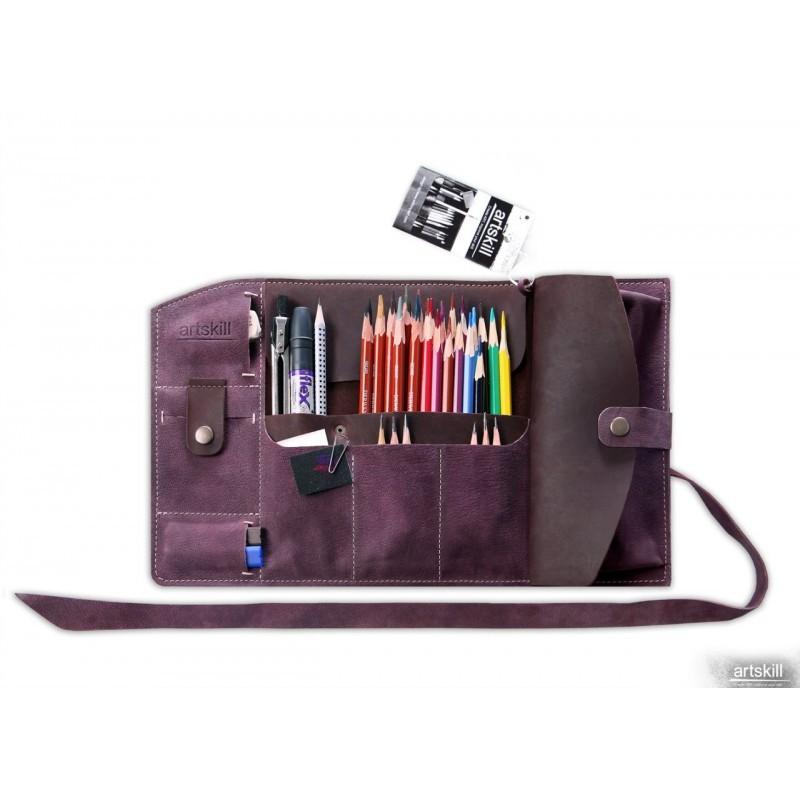 Пенал кожаный Artskill Pro (фиолетовый)