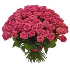 Букет из 101 розовой розы РФ высотой 40 см