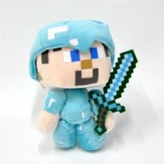 Мягкая игрушка Minecraft Стив в алмазной броне
