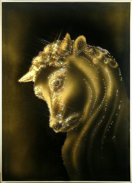 Картина с кристаллами Swarovski  Талисман (бык)
