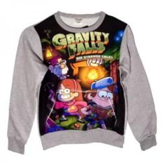Свитшот с карманом Диппер, Мейбл и Стэн из Gravity Falls