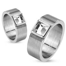 Парные кольца из ювелирной стали Spikes