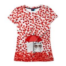 Женская футболка Сердцепад