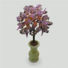 Дерево из аметиста Каллиопа в вазочке из оникса