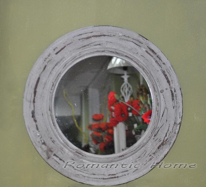 круглое зеркало в деревянной раме прованс купить в