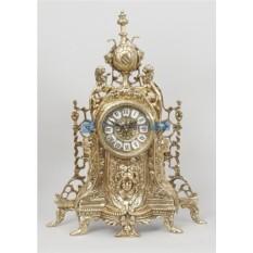 Часы из бронзы Львы, цвет золотой