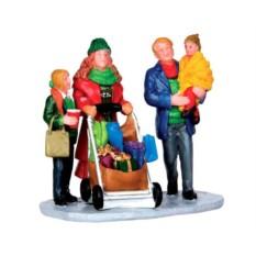 Фигурка Рождественский шоппинг с папой и мамой