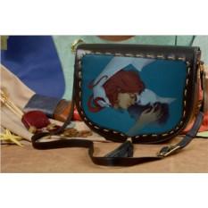 Женская сумка-седло с принтом Любовь над городом