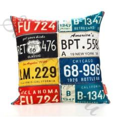 Интерьерная подушка Route 66 – Car Numbers