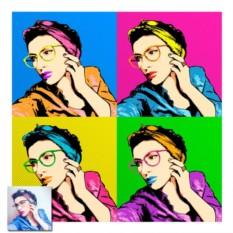 Поп-арт женский портрет