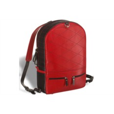 Черно-красный кожаный рюкзак-трансформер Brialdi Joker