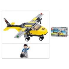 Детский конструктор Самолет с фигуркой (110 деталей)