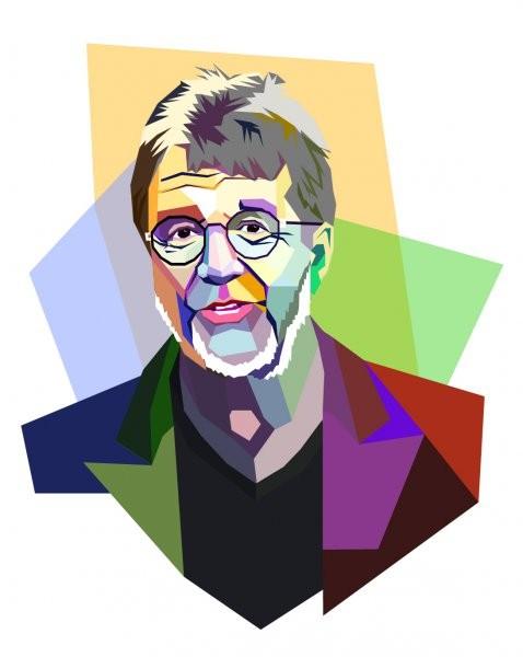 Мужской портрет WPAP - Wedha Pop Art Portait