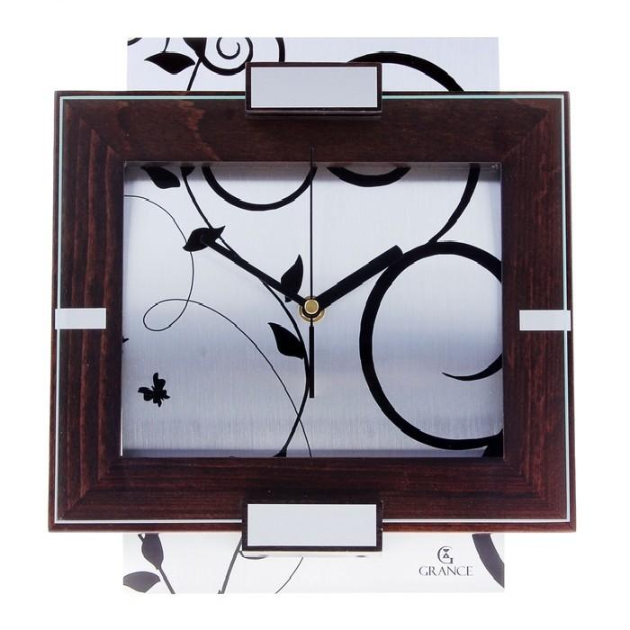 Настенные часы Grance Венге AV-03, серебро