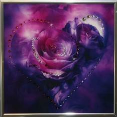 Картина Swarovski Сердечко №6