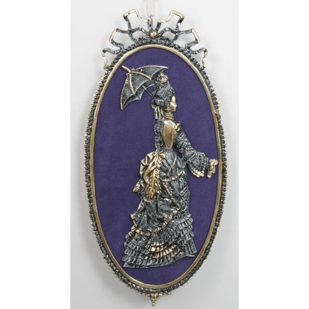 Пара картин из бронзы Virtus «Дама и кавалер»