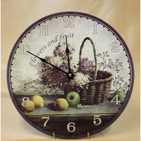 Настенные часы «Цветы и фрукт»