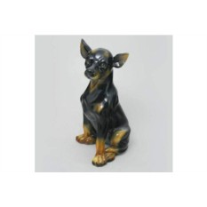 Фарфоровая статуэтка Черная чихуахуа