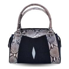 Женская сумка из кожи ската и питона Bagira exotic